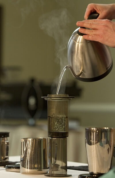 coffee making with distilled water