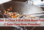 How to clean a wok with burnt food