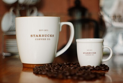 starbucks coffee mug size