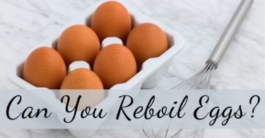 can you reboil eggs