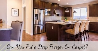 Can you put a deep freezer on carpet
