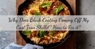 black coating coming off cast iron skillet