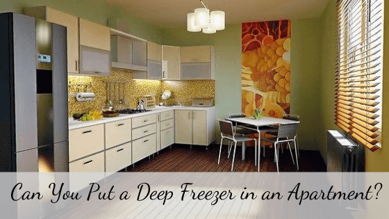 can you put a deep freezer in an apartment