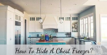 how to hide a chest freezer