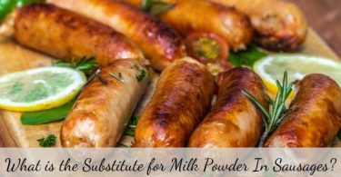 Substitute for milk powder in sausages
