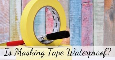 is masking tape waterproof