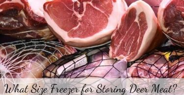 what size freezer for storing deer meat