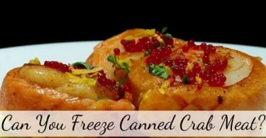 can you freeze canned crab meat