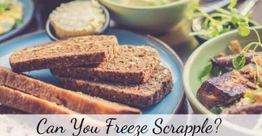 can you freeze scrapple
