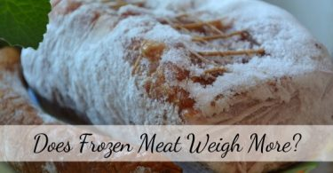 Does frozen meat weigh more